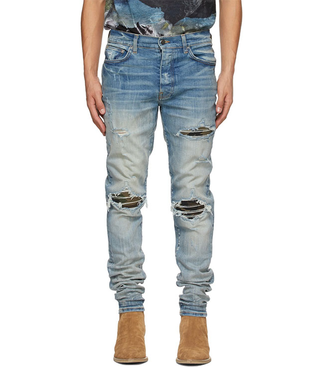 Blue MX1 Camo Jeans