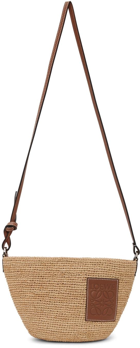 Loewe Straw Bag Beige