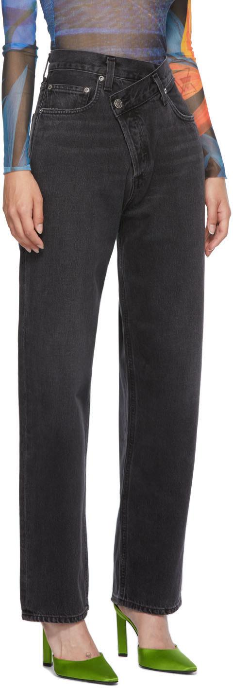 Agolde Criss Cross Jeans Black