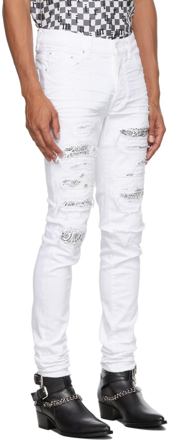 White Amiri Jeans Bandana