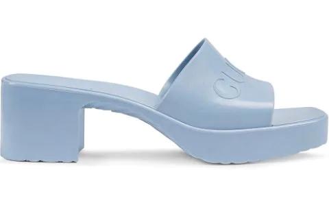 Blue Women's Gucci Slide Sandals