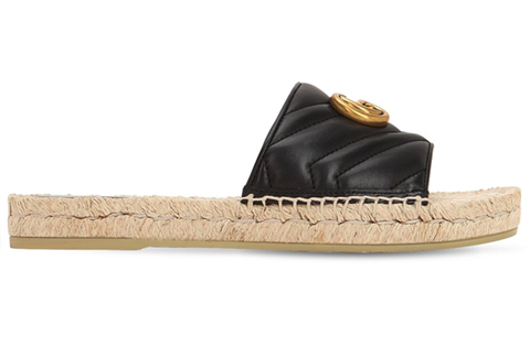 Women's Gucci Quilted Leather Slides